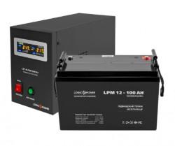 Источник бесперебойного питания с батареей Logic Power 500/100 AGM Black