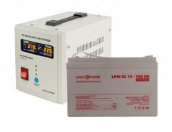 Источник бесперебойного питания с гелевым аккумулятором Logic Power VA800 - 100 Ah GEL