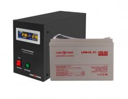 Источник бесперебойного питания с гелевым аккумулятором Logic Power VA800 - 100 Ah GEL Black