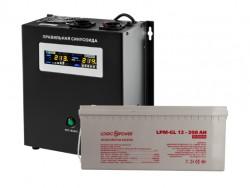 Источник бесперебойного питания с гелевым аккумулятором Logic Power VA1000 - 200 Ah GEL WallSet