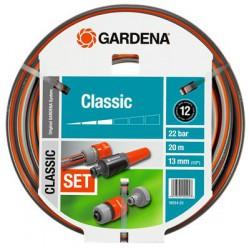 """Шланг садовый Gardena Classic 13 мм (1/2"""") 20м с системой фитингов"""
