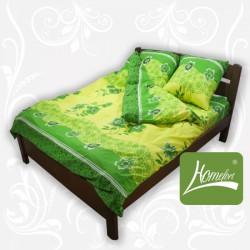 Постельное белье Homefort комплект Зеленые мотивы Euro