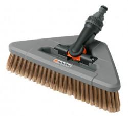 Щетка моющая на шарнире Gardena из натурального конского волоса