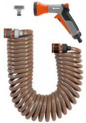 Пистолет для полива Gardena в комплекте со спиральным шлангом