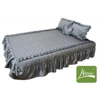 """Покрывало для кровати Homefort комплект цвета """"Серебро"""""""