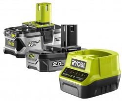 Зарядное устройство+2АКБ Ryobi ONE+ RC18120-242