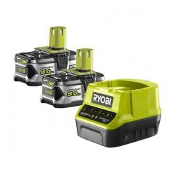 Набор зарядное устройство + 2 аккумулятора Ryobi ONE+ RC18120-250